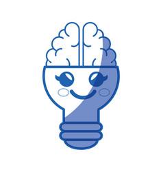 Kawaii bulb icon vector