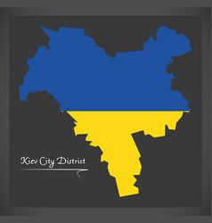 Kiev city district map ukraine with ukrainian vector