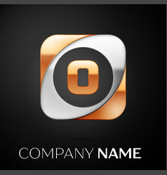 letter o logo symbol in the colorful square on vector image
