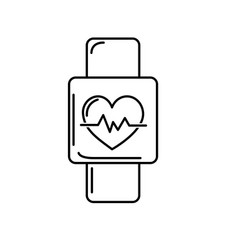 Line smartwatch to know the rhythm cardiac vector