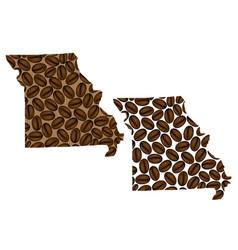 Missouri - map of coffee bean vector