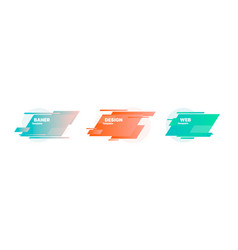 modern abstract banners badges set trendy vector image