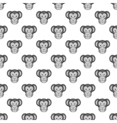 Monkey face seamless pattern vector image