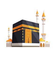 Mosque on eid al adha closeup vector