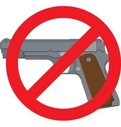 No Handguns vector image