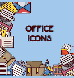 office icons tool and company elements vector image