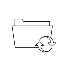 Outline document folder icon vector image
