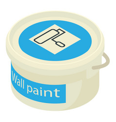 Paint bucket icon isometric 3d style vector