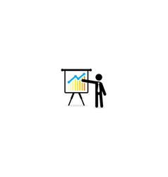 presentation business analysis logo icon vector image