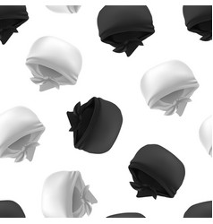 Realistic 3d detailed white and black blank vector