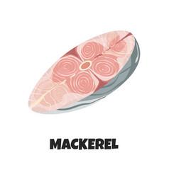Realistic steak mackerel vector