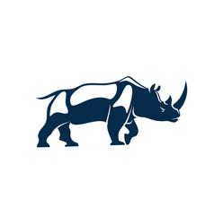 Rhinoceros with horn isolated african safari rhino vector