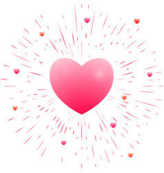romantic pink heart vector image