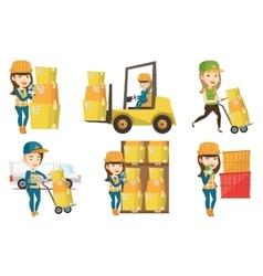 Set of industrial workers vector