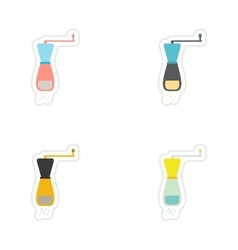 Set of paper stickers on a white background salt vector