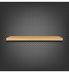 Shelf On Abstract Metal Background vector image