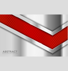 Shinny metal silver background combine with red vector