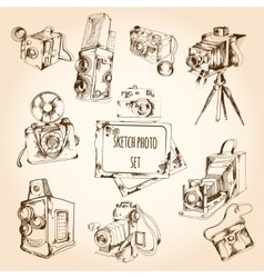 Sketch Photo Set vector image