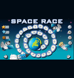 Space race board game vector