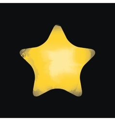 star watercolor isolated icon design vector image
