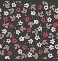 stylish seamless pattern with flowers and leaves vector image