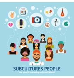 Subcultures people concept vector