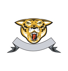 Tiger Head Growl Head Isolated vector