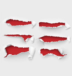 Torn ripped paper template sides vector