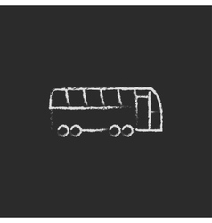 Tourist bus icon drawn in chalk vector image
