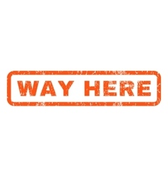 Way Here Rubber Stamp vector