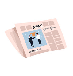 weekly or daily newspaper with articles news vector image