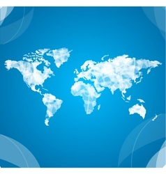 world map white vector image