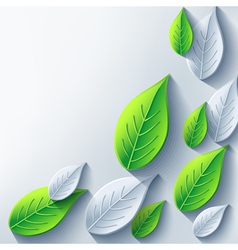 Abstract eco background with 3d leaf vector image vector image