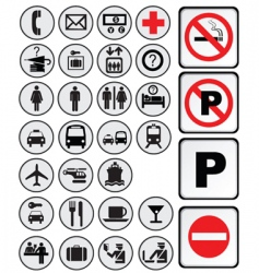 assorted icons vector image vector image
