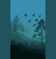 autumn nature landscape template vector image vector image