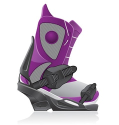 boot and binding for snowboarding vector image vector image