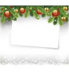 christmas letter with traditional decorations vector image vector image