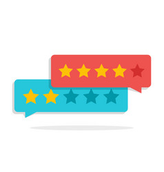 concept of customer feedback rating in the form vector image