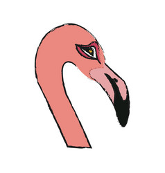 flamingo bird icon vector image vector image