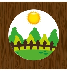 forest trees design vector image vector image