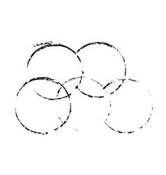 grunge ink circles watercolor frames set vector image