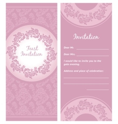 invitation background greeting card vector image vector image
