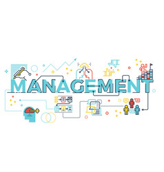 Management word lettering vector