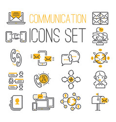 media internet web network contact communication vector image