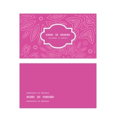 pink abstract flowers texture horizontal frame vector image