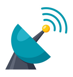 satellite dish icon vector image vector image