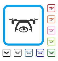 video spy drone framed icon vector image