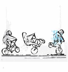 BMX freestyle vector image vector image