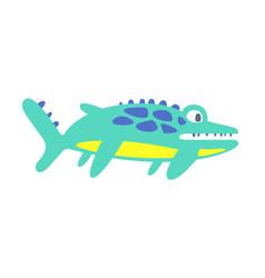 cute funny ichthyosaur prehistoric animal vector image