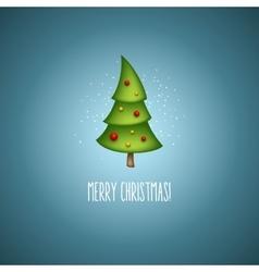 Funny christmas trees vector image